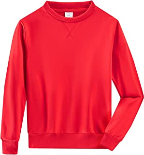 Spring&Gege Youth Basic Sport Crewneck Pullover Sweatshirts for Children(3-12 Years)