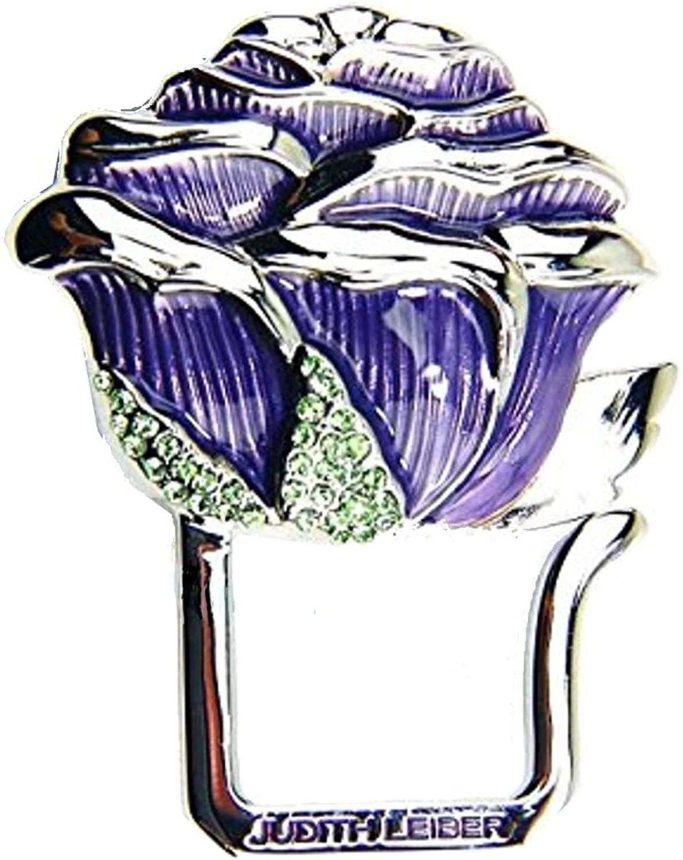 Judith Leiber Pink Purple Key Ring Chain