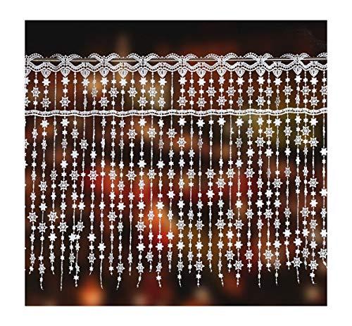 'zarte Scheibengardine Sternentraum aus Spitze 40 cm hoch x 55 cm breit ideal für kleine Fenster'