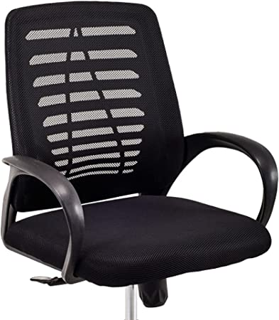 Cadeira Executiva Viena Giratória Regulagem de Altura a Gás Telada Preto   Amazon.com.br
