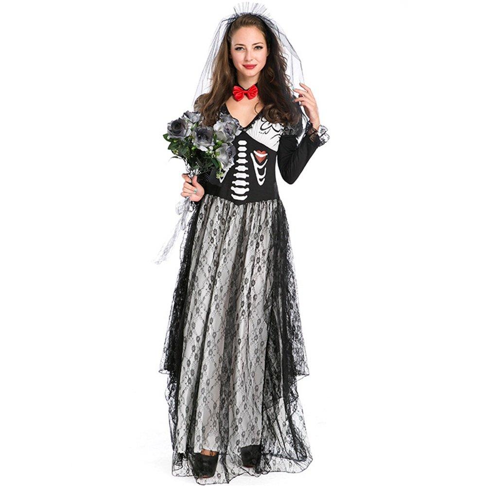 D_HOM Festival de Fantasmas Disfraz Disfraz Real Zombie Vestido ...
