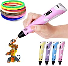 3D Pen Second Generation for Kids/Adult/Children with 3m FREE Filament + 30 m extra Filament (PINK)