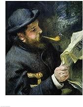 Claude Monet Reading a Newspaper by Pierre-Auguste Renoir Art Print, 17 x 22 inches