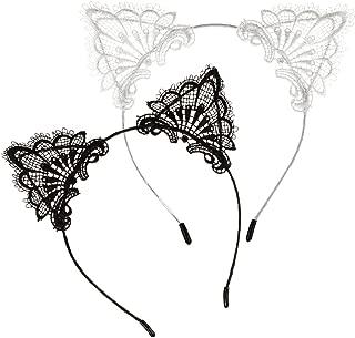 black floral cat ears