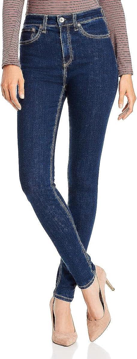 rag & bone Womens Mari Nina Denim Dark Wash Skinny Jeans