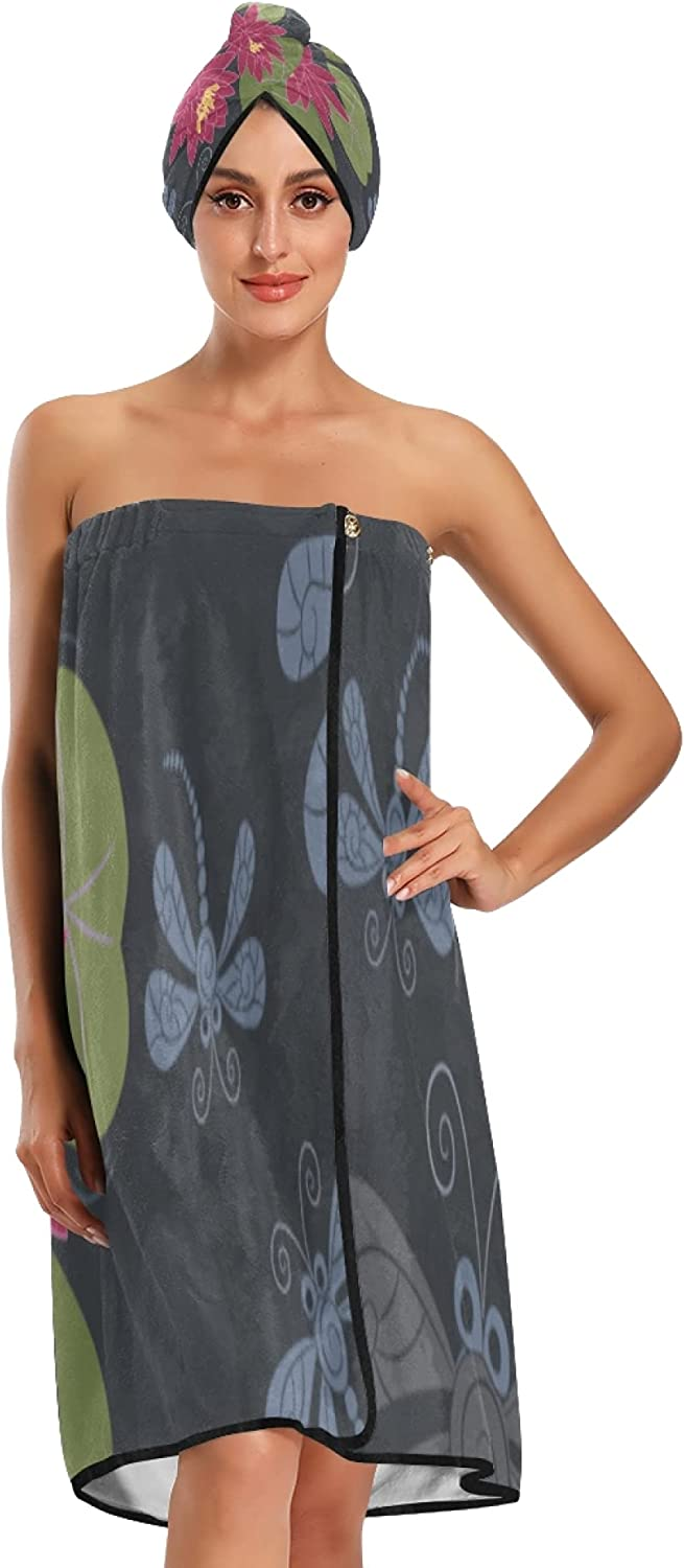 Body Towel Wrap Dragonfly and trend rank Lotus W Shower for Products Daily bargain sale Flower