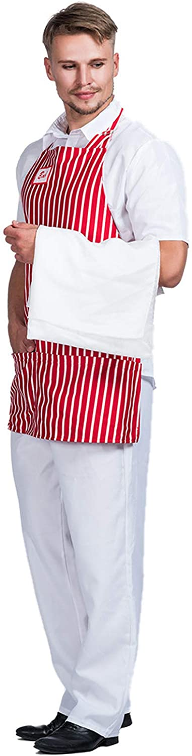 Mens Chef Costume - Halloween Inventory cleanup selling sale Aprons Carnival Price reduction Dine Retro