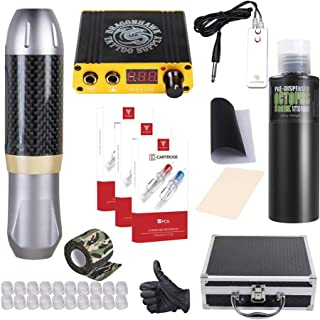 Dragonhawk Tattoo Pen Kit Rotary Tattoo Machine Carbon Fiber Frame Machine Tattoo Power Supply Tattoo Needles