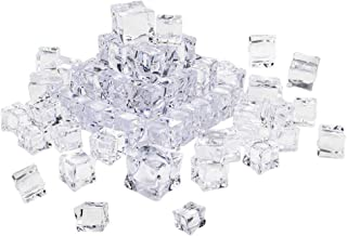 Vosarea 80Pcs Fake Ice Cubes Acrylic Ice Cubes Clear Rocks Plastic Crystals Clear Ice Rocks Acrylic Gems for Home Decorati...