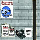 carbon fiber wall repair kit - 15 ft-Carbon Fiber-Basement Wall Crack Repair Kit