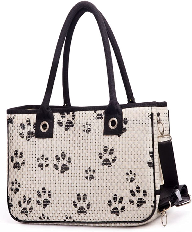 Lightweight Pet Carrier Crate Portable Pet Handbag Dog Cat Travel Carrier Cage color Optional (color   White)