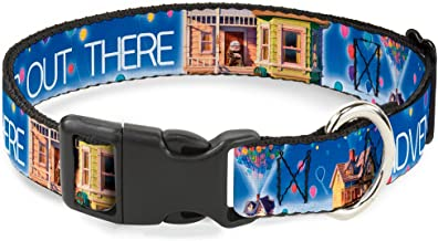 Buckle-Down Plastic Clip Collar - Adventure is Out There/Carl on Porch/Flying House/Balloons Blues/White/Multi Color - 1/2