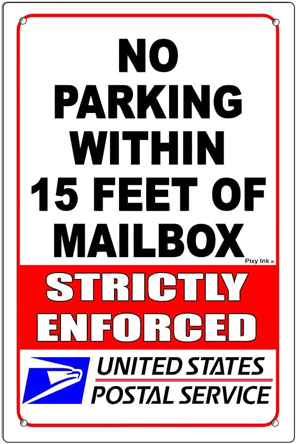 No Parking Within 15' Ranking TOP14 Of Mailbox Metal Super sale Driveway 6x9 Warning Sign