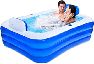 Inflatable Swimming Pools, Elegant Family Pool, Inflatable Kiddie Pools, Foldable Thickened PVC Anti-wear Shower Barrel, S...