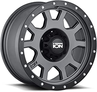 Ion Alloy 135 Matte Gunmetal/Black Beadlock Wheel with Painted Finish (15 x 8. inches /5 x 139 mm, -20 mm Offset)