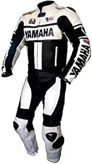 Yamaha Mens Motorbike Leather Suit – Motorcycle Racing CE Protection Armour Biker Suit– Custom Made