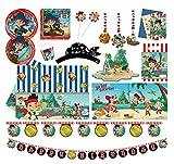 Procos and The Neverland Pirates 10110973B Party Disney-Juego de capitán Jake (2, tamaño XL, 74 Piezas), Color (10110973)