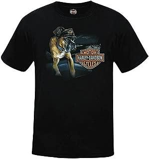 House of Harley Men's Dog Days Tee with Bar & Shield Logo - R002367