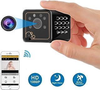 كاميرا خفية ALILJJ Mini Spy ، كاميرا مخفية 1080P HD HD كاميرا مراقبة منزلية داخلية مع تقنية الرؤية الليلية للكشف عن الحركة...
