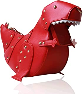 SUKUTU Upgrade Dinosaur Shape PU Leather Rivet Purses for Women, New Girls Crossbody Purses Shoulder Bag