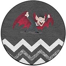 Round Area Rug Vampire Man Comfy Non-Slip Runner Floor Rug Doormat Entry Carpet Indoor Outdoor Mats Rug Pads