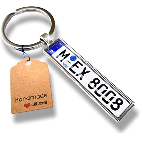 Internetservice Timo Lindner Key Ring With Individual Car Number Plate Personalised Auto