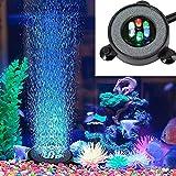 Supmaker Aquarium Air Stone Fish Tank Led Air Stone Bubble Light with 6