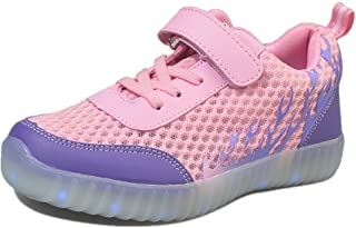 Boys&Girls LED Light Up Shoes 11 Colors USB Charging Flashing Sneakers