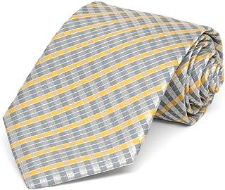 TieMart Boys' Dark Silver George Plaid Necktie