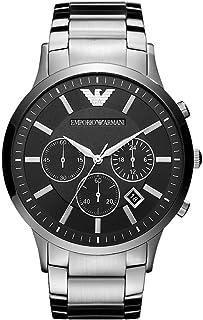 Emporio Armani Men's Black Dial Stainless Steel Analog Watch - AR2460