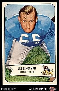 1954 Bowman # 29 Les Bingaman Detroit Lions (Football Card) Dean's Cards 2 - GOOD Lions