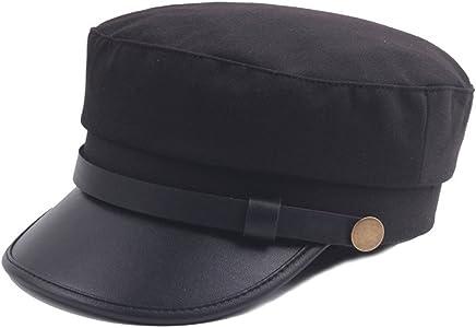 71891c6ef28 Fitted Army Cap Men Women Captain Hats Retro Plain Flat Caps Sun Hat