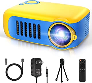 Mini Projector, Itari Portable LED Pico Video Projector for Cartoon, Movies, Small Pocket Home Phone Projector for Home Th...