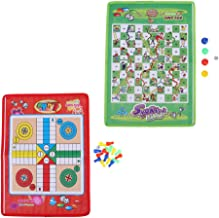 IPOTCH 2 Pieces Non-Woven Snake and Ladder Fun Traditional Dice Board Game for Kids & Adults