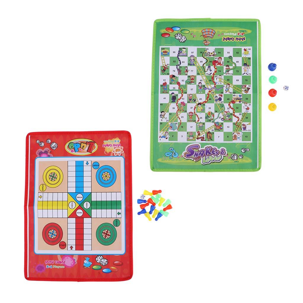 FLAMEER Serpientes y Escaleras Juegos de Tablero - Snakes and Ladders Game: Amazon.es: Juguetes y juegos