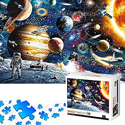 Amazon - Save 40%: Jigsaw Puzzles 1000 Pieces for Adults Kids, Planets in Outer Space, DIY, Puzzles…