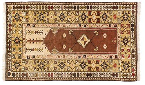 Lifetex.eu Teppich Milas Türkei ca. 115 x 195 cm Braun handgeknüpft Schurwolle Klassisch hochwertiger Teppich