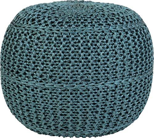 Sona-Lux Tabouret de jardin 100 % polyester Compatible avec chauffage au sol Couleur Tuerkis Hauteur d'assise env. 40 cm – Assise env. 43 cm de diamètre