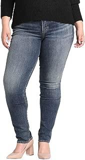 Silver Jeans Co. Women's Plus Size Avery Curvy Fit High Rise Slim Leg Jeans