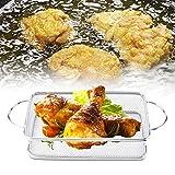 Cesta de cocina de acero inoxidable, cesta para freír, multifunción para restaurante casero(27 * 12 * 6)