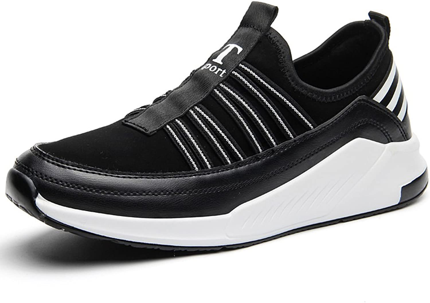 Men's shoes Feifei Spring and Autumn Movement Fashion Leisure Breathable Running shoes 2 Colours (color   Black, Size   EU39 UK6 CN39)