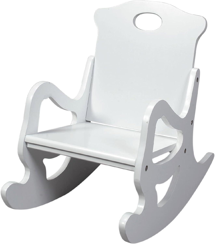 Gift Mark Single Seat Puzzle Rocker, White
