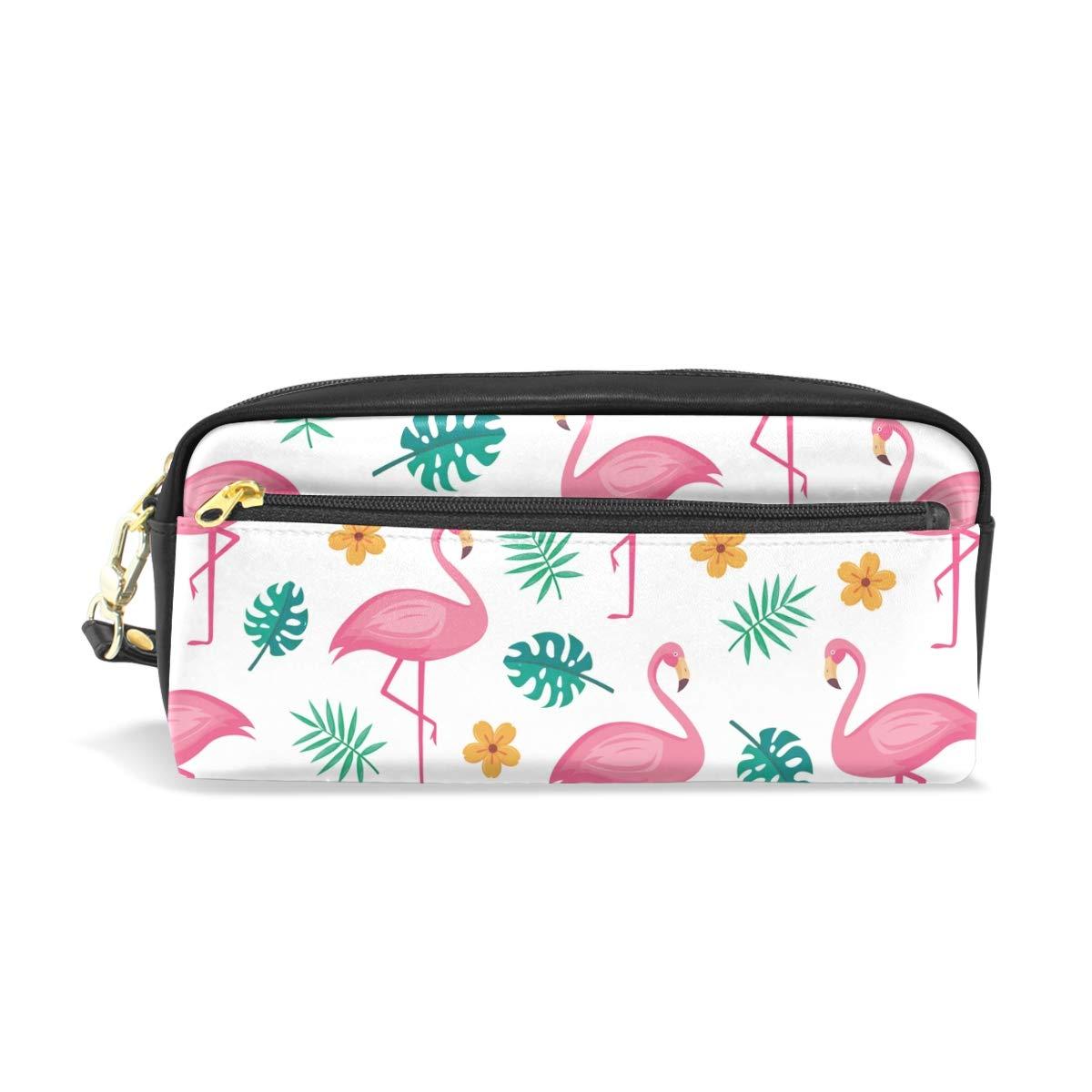 Flamingo - Estuche para lápices con compartimentos para niños, escuela, mujer, bolsos de cosméticos pequeños: Amazon.es: Oficina y papelería