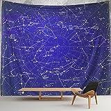 HWMR 12 Constellations Map Wall Decor Universe Galaxy Space Star...