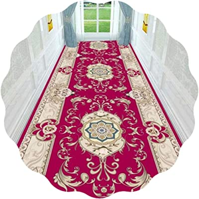 JIAJUAN Hallway Runner Rug Non Slip Washable Extra Long Hall Carpet Runners Kitchen Entryway Floor Mat - European Style (Color : A, Size : 140x300cm)