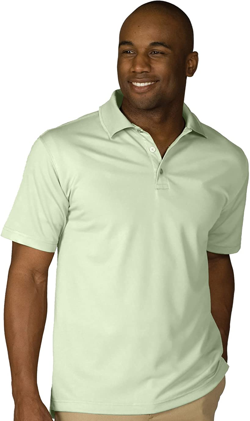 Ed Garments Men's Big And Tall Hi-Performance Polo Shirt, CUCUMBER, 5XLT