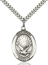 holy spirit medal sterling silver