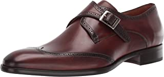 Mezlan Forest Mens Luxury Wing Tip Oxfords - Exquisite Hand-Burnished Calfskin with Perforated Accents Monkstrap Shoes Men...