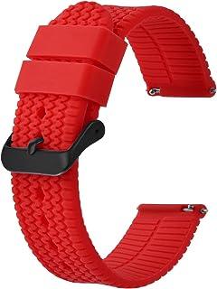 BISONSTRAP Correa de Reloj de Silicona con Liberación Rápida, Opción de Ancho 18mm 20mm 22mm 24mm