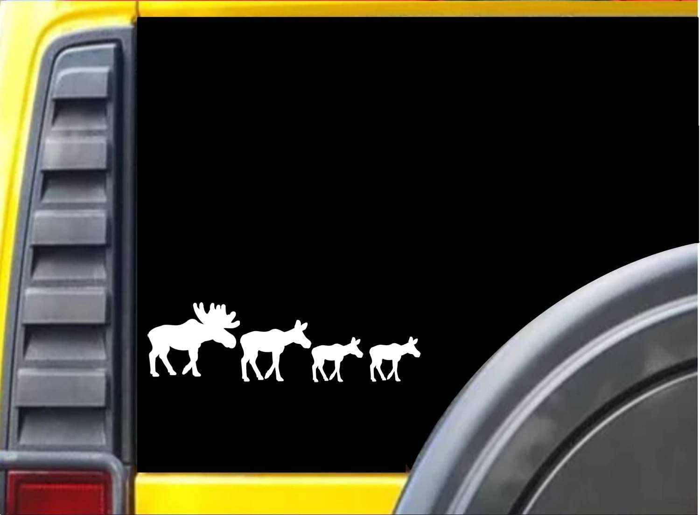 Ez Stik Moose Family Sticker K930 8 Inch Decal Automotive Amazon Com [ 1104 x 1500 Pixel ]